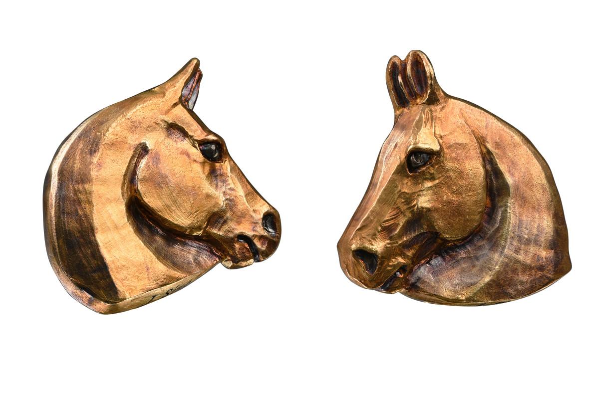 horses cufflinks